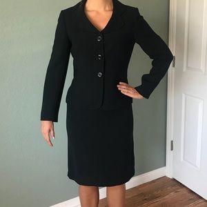 Dark Navy Tahari skirt suit